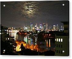Moon Light Lace Of Brisbane Acrylic Print