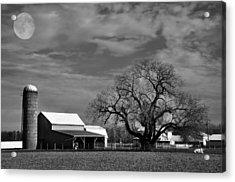 Moon Lit Farm Acrylic Print by Todd Hostetter