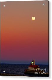 Moon Over Canal Park II Acrylic Print by Jimmy Ostgard