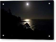 Acrylic Print featuring the photograph Moon Over Dor by Brent L Ander