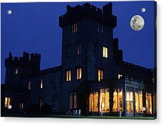 Moon Over Dromoland Castle  Acrylic Print by Carl Purcell