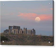 Moon Over Fort Laramie Acrylic Print