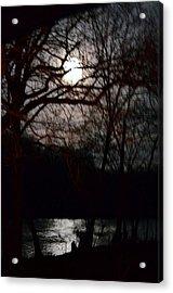 Moon Over Maury Acrylic Print