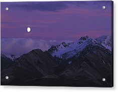 Moon Over Mountains Acrylic Print by Nick Norman
