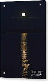 Moon Over Seneca Lake Acrylic Print