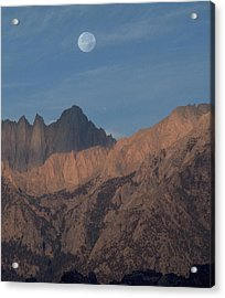 Moon Over Whitney Acrylic Print