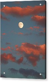 Moon Sunset Vertical Image Acrylic Print by James BO  Insogna