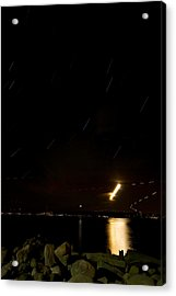 Moon Trail Acrylic Print by Mike Horvath