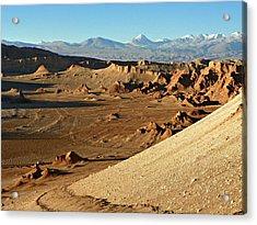 Moon Valley Atacama Desert Acrylic Print by Sandra Lira