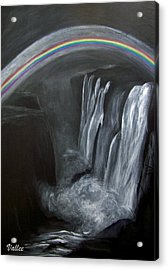 Moonbow Over Victoria Acrylic Print by Vallee Johnson