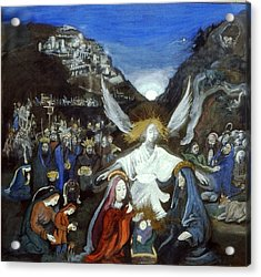 Moonlight Nativity Acrylic Print