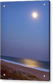 Moonlight On Ocean Acrylic Print by Doris Rudd Designs, Photography