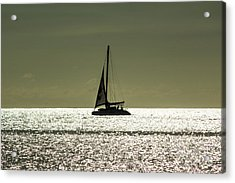 Moonlight Sail Acrylic Print by Rene Triay Photography