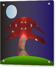 Acrylic Print featuring the digital art Moonlight Sonata by Asok Mukhopadhyay
