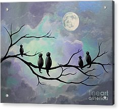 Acrylic Print featuring the painting Moonlight Sonata by Stacey Zimmerman