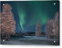 Moonlit Aurora Acrylic Print