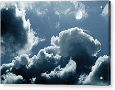 Moonlit Clouds Acrylic Print by Detlev Van Ravenswaay
