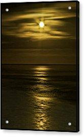 Moonlit Pacific Acrylic Print by Dale Stillman