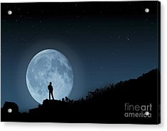 Moonlit Solitude Acrylic Print