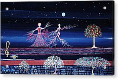 Moonlove Dance Acrylic Print by Farshad Sanaee The Apple