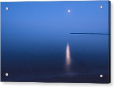 Moonrise On Lake Superior Acrylic Print