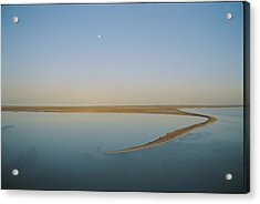 Moonrise Over Flooded Lake Acrylic Print by Jason Edwards
