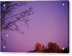 Moonrise Over Oak Creek Canyon Acrylic Print by Stockbyte