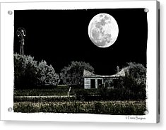 Acrylic Print featuring the photograph Moon's Light by Travis Burgess