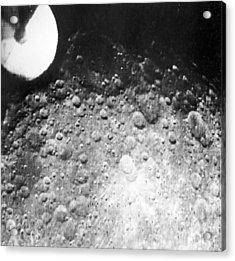 Moon's Surface, Zond 3 Image Acrylic Print by Ria Novosti