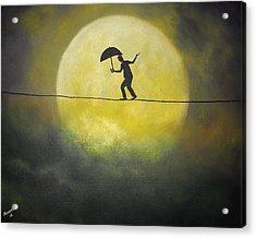 Moonwalker Acrylic Print by Edwin Alverio