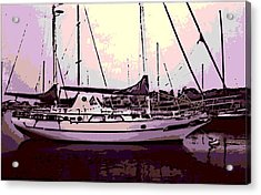Moored Acrylic Print by George Pedro