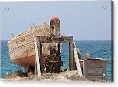 Moored Skiff Cabo De Gata Acrylic Print