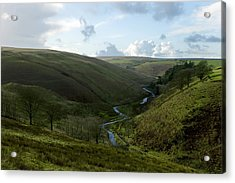 Moorland Valley Acrylic Print by Dr Keith Wheeler