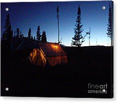 Moose Camp At Sunset Acrylic Print