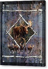 Moose Lodge Acrylic Print