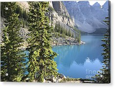 Acrylic Print featuring the photograph Moraine Lake  by Milena Boeva