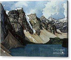 Moraine Lake Acrylic Print by Scott Nelson