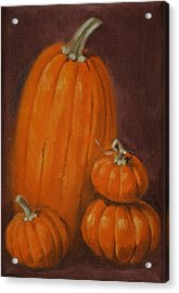 More Pumpkins Acrylic Print by Linda Eades Blackburn