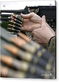 More Than 3,000 Rounds Were Fired Acrylic Print