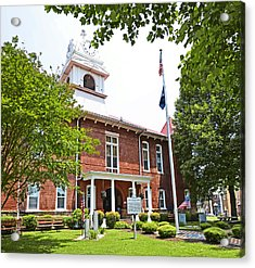 Morgan County Courthouse Acrylic Print by Paul Mashburn