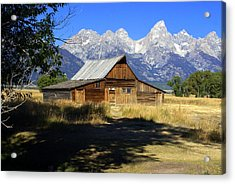 Acrylic Print featuring the photograph Mormon Row Barn by Marty Koch