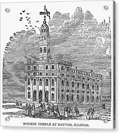 Mormon Temple, Nauvoo Acrylic Print by Granger
