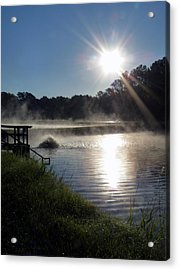 Morning At The Fish Hatchery Acrylic Print by Terry Eve Tanner