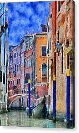Morning Calm In Venice Acrylic Print by Jeff Kolker