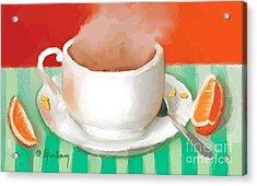 Morning Coffee Acrylic Print by Dessie Durham
