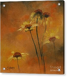 Morning Fire Acrylic Print by Linda Eades Blackburn