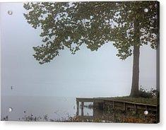 Morning Fog Acrylic Print by Barry Jones