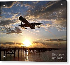 Acrylic Print featuring the photograph Morning Glory by Alex Esguerra