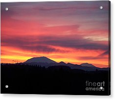 Acrylic Print featuring the photograph Morning Glow by Chalet Roome-Rigdon