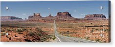 Morning In Monument Valley Acrylic Print by Sandra Bronstein